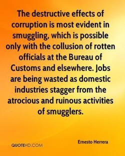 The destructive effects of 
