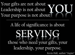 Your gifts are not about 