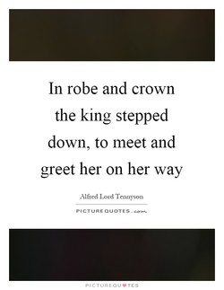In robe and crown 