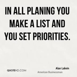 IN ALL PLANING YOU 