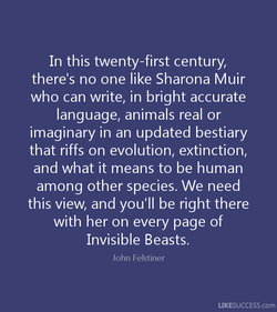 In this twenty-first century, 