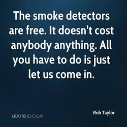 The smoke detectors 
