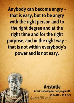 Anybody can become angry - 