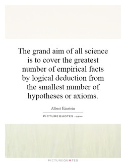 The grand aim of all science 