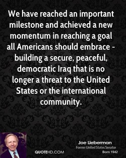 We have reached an important 