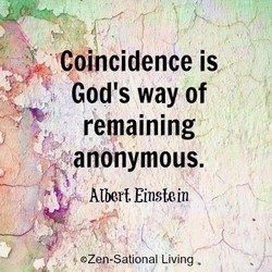 Coincidence is 