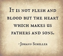 IT IS NOT FLESH AND 