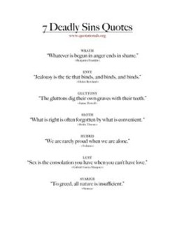 7 Deadly Sins Ouotes
