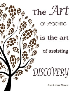 The Art OF teaa-linc is the art of assisting *DISCOVERY -Mark van Doren