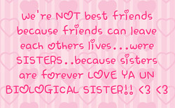 We 're NOT best friends 