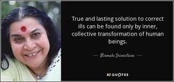 True and lasting solution to correct 