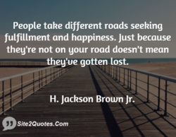 People take different roads seeking 