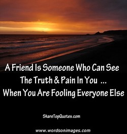 A Friend Is Someone Who Can See 