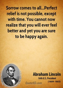 Sorrow comes to all...Perfect 