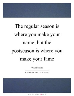 The regular season is 