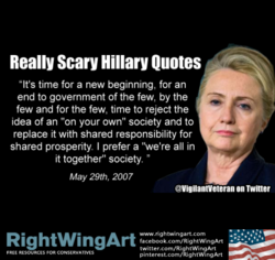 Really Scary Hillary Quotes