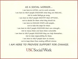 AS A SOCIAL WORKER.... 