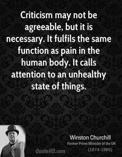 Criticism may not be 