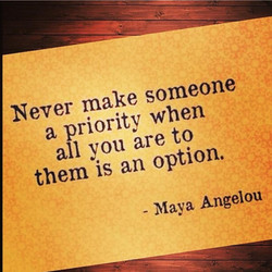 Never make someone 