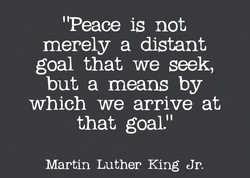 'Peace is not 