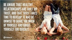 BE AWARE THAT HEALTHY 
