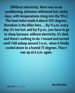 (Without electricity, there was no air 