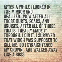 AFTER A WHILE I LOOKED IN 