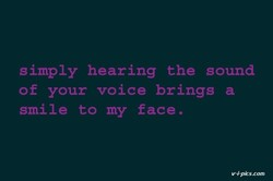 simply hearing the sound 
