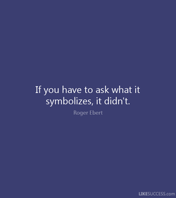 If you have to ask what it 