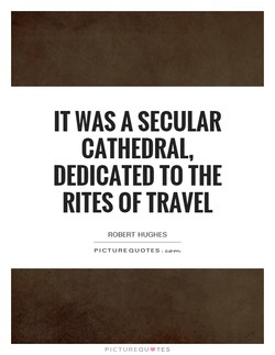 IT WAS A SECULAR 