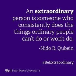 An extraordinary 