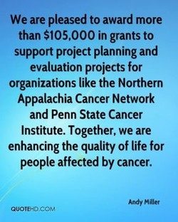 We are pleased to award more 