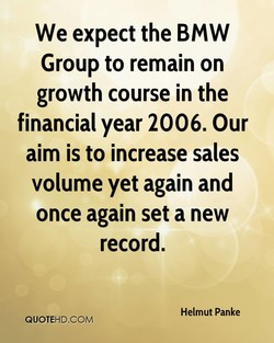 We expect the BMW 
