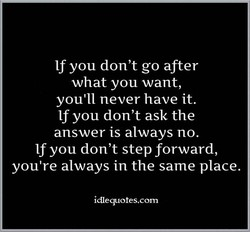 If you don't go after 
