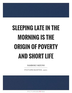 SLEEPING LATE IN THE 