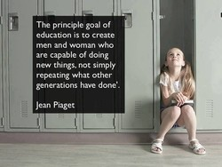The principle goal of 