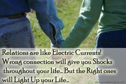 Relations are like Electric Currents! 