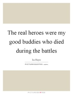 The real heroes were my 