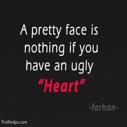 A pretty face is 