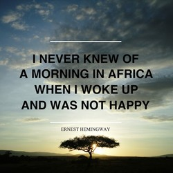 I NEVER KNEW OF 