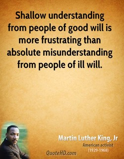 Shallow understanding 