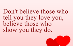 Don't believe those who 