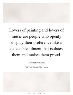 Lovers of painting and lovers of 