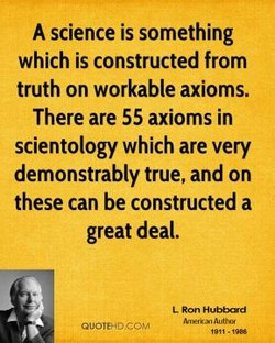 A science is something 