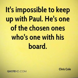 It's impossible to keep 