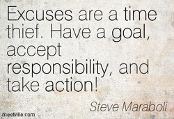 Excuses are a time 