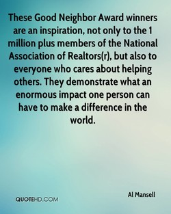 These Good Neighbor Award winners 