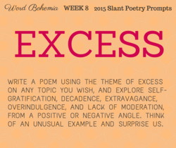 oohemnza WEEK 8 2015 Slant Poetry Prompts 