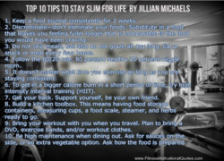 TOP 10 TIPS TO STAY SLIM FOR LIFE BY JILLIAN MICHAELS 