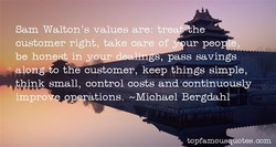 Sam Walton's values are: t 